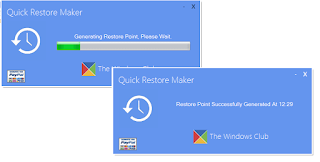 Quick Restore Maker v3-Interface