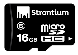 Strontium 8 GB MicroSDHC Memory Card (Class 6) for Rs.128