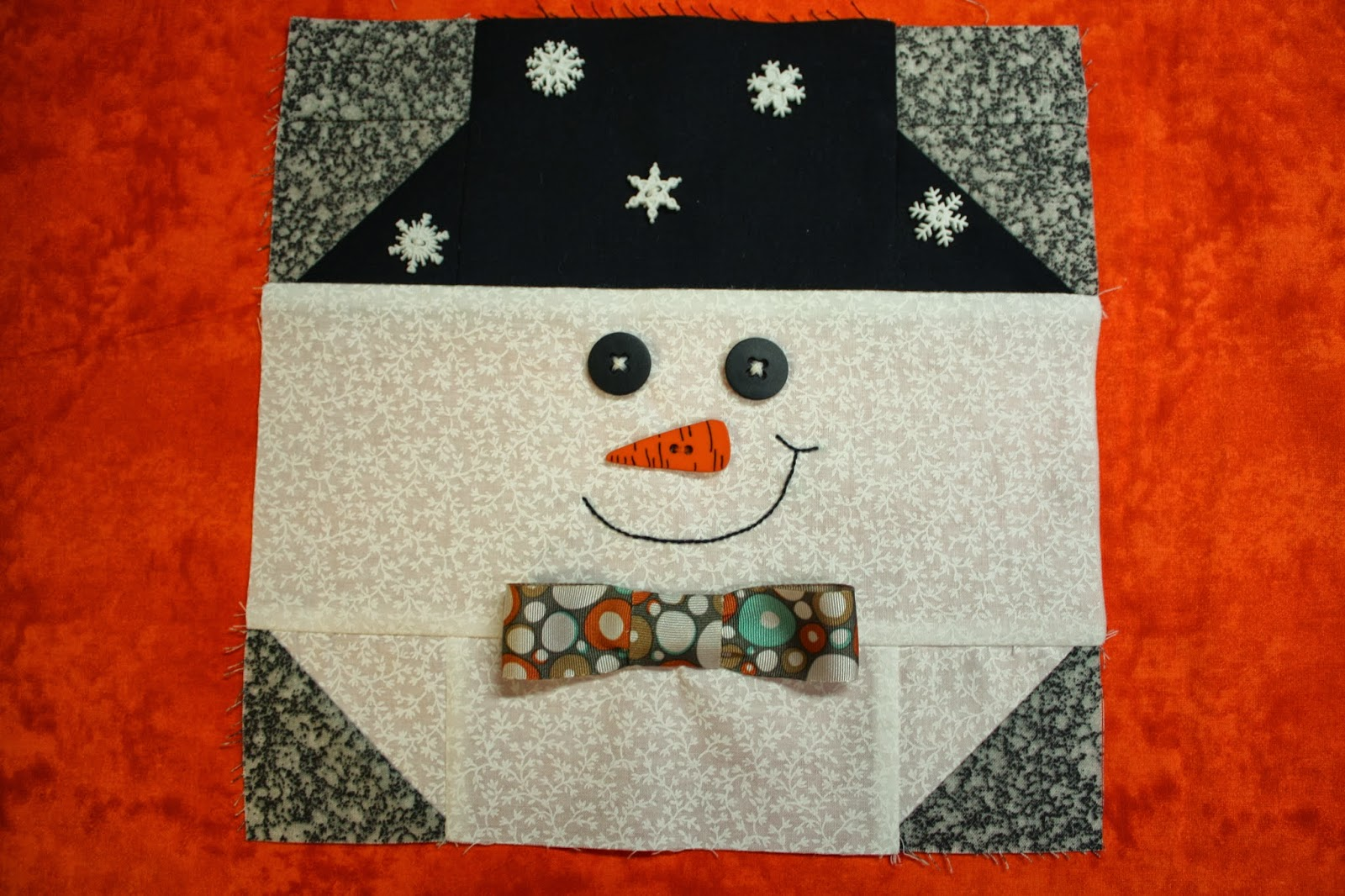Snowman Nose Pattern Of writing the pattern,