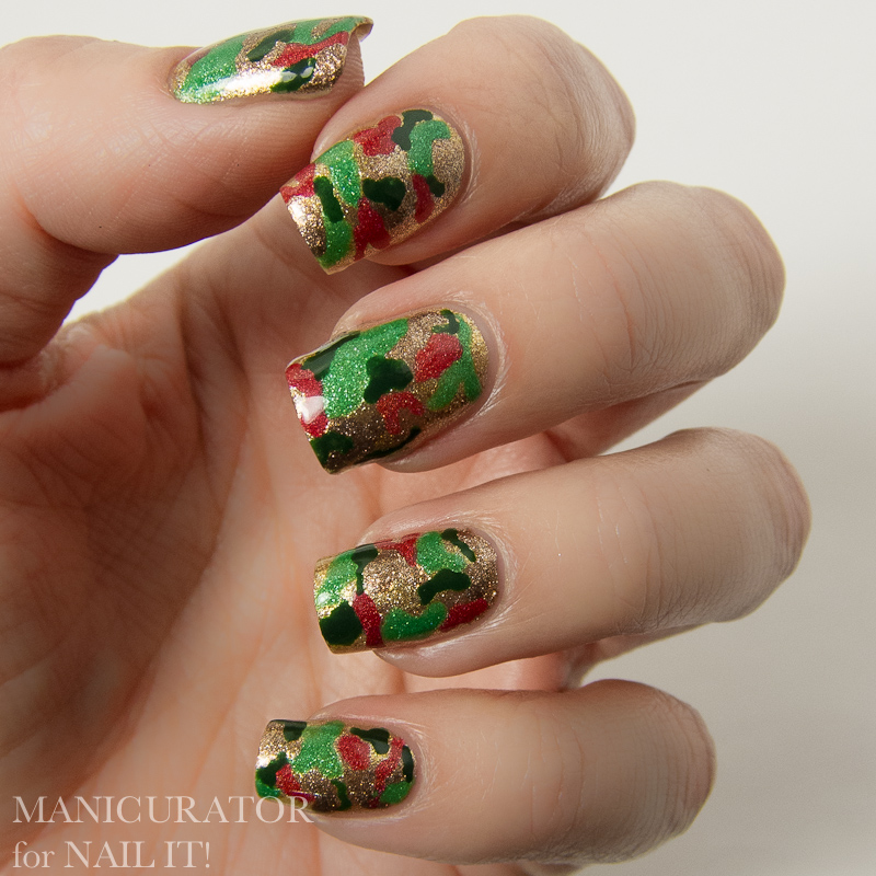 Manicurator Digital Dozen Red Green Gold Week Nail It Holiday