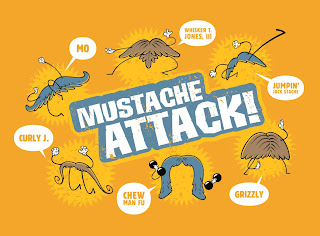 Danny Moore Illustrations Mustache Attack Mustache Cartoons