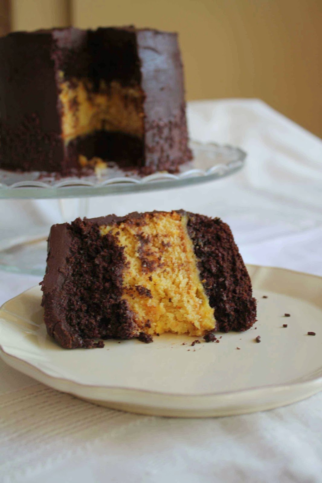 ... Layer cake de chocolate_Receta layer cake de naranja_receta orange