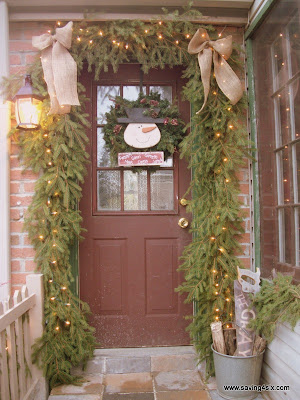 Decorated Winter Porch