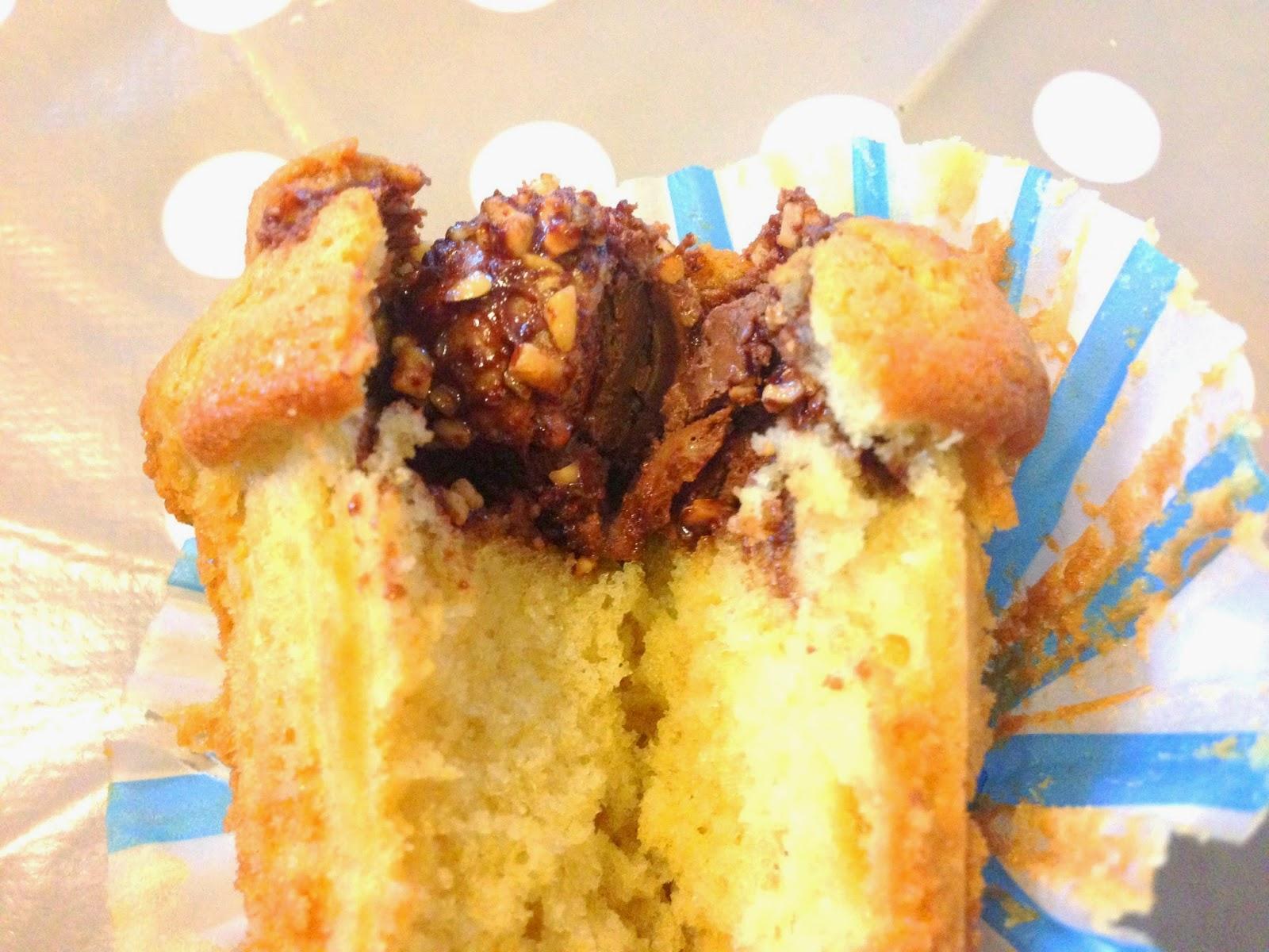 Muffins au coeur de Ferrero Rochers
