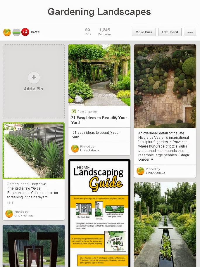 garden and landscape design example  pins on Pinterest for business to showcase