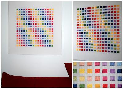 Parenthese creative-LN-tableau broderie mosaique carrés passé plat
