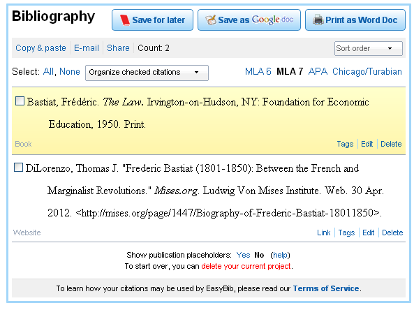 EasyBib  Free Bibliography Generator   MLA  APA  Chicago citation styles