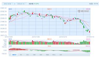 中国株コバンザメ投資 香港ハンセン指数20160114