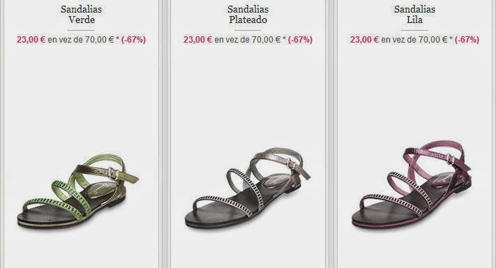 Tres modelos de sandalias para niña disponibles por 23 euros