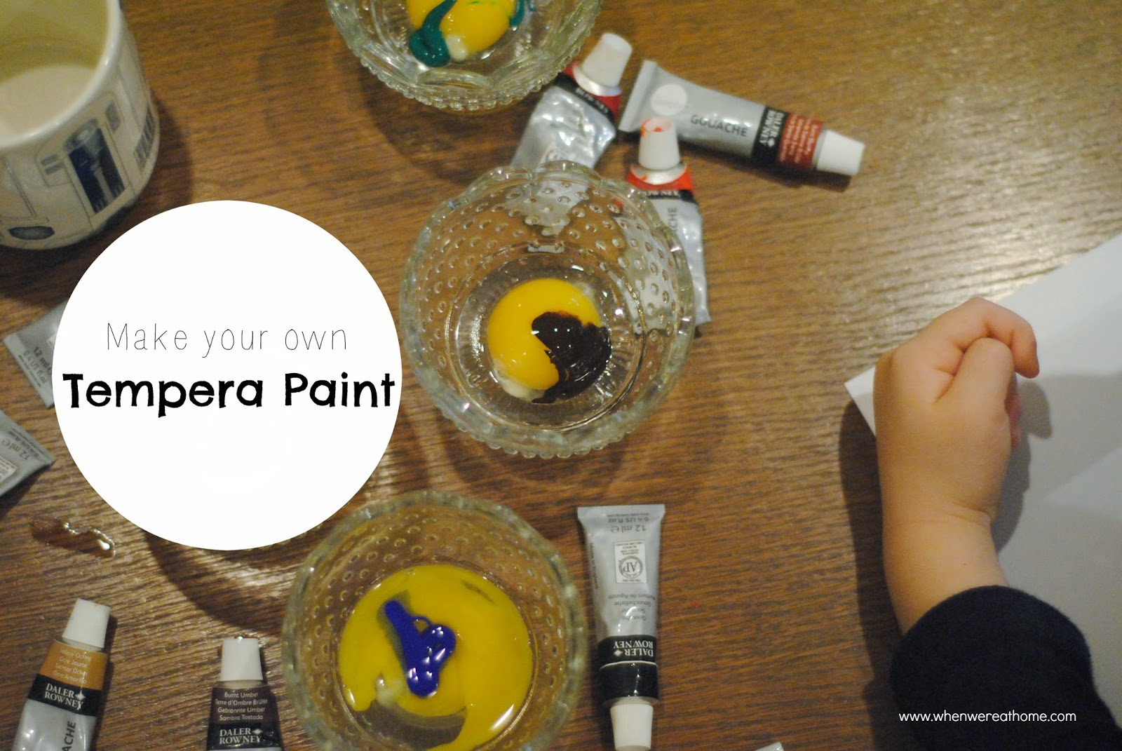 Make your own tempera paint