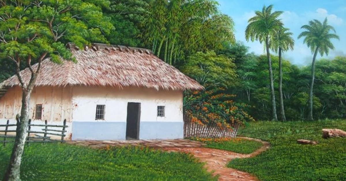 Cuadros modernos pinturas y dibujos paisajes r sticos al - Cuadros de casas de campo ...