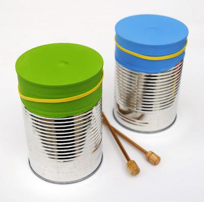 Bongo guiro casero hecho a partir del reciclaje