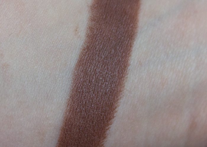 MAC Styled in Sepia Review Swatch dark taupe nude brown cool