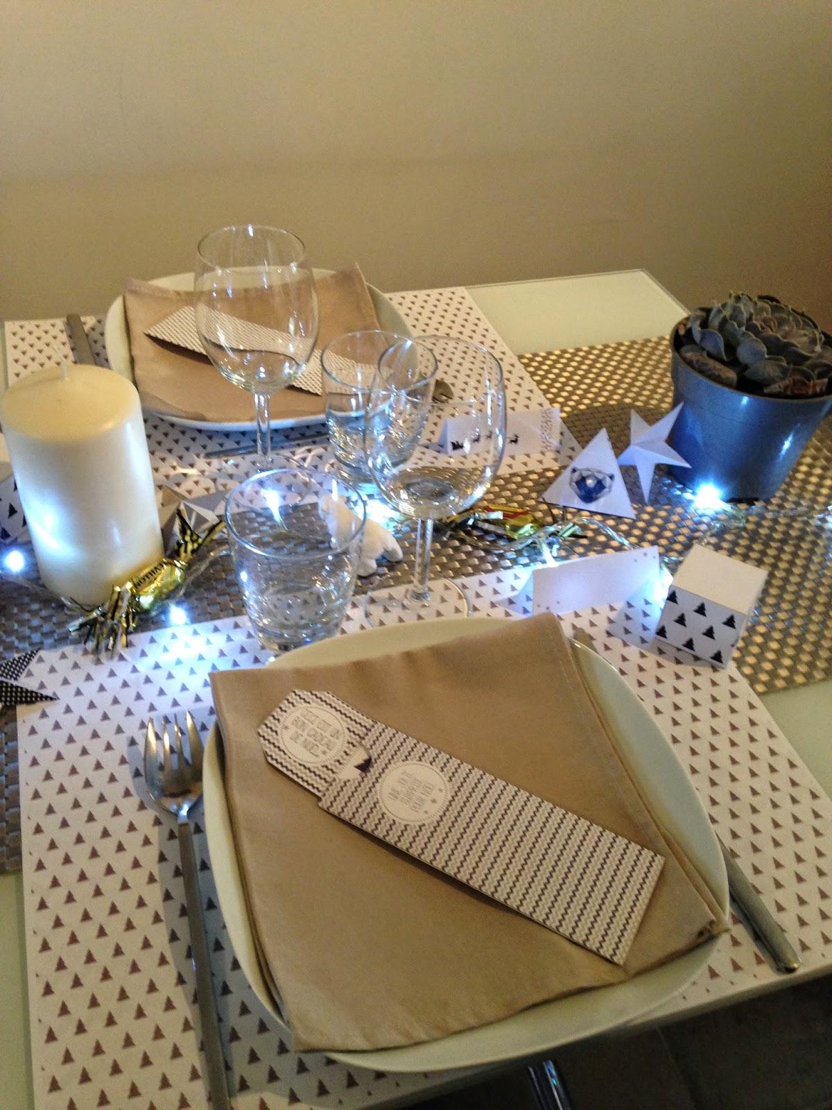 Déco de table de Noel - Printable et DIY