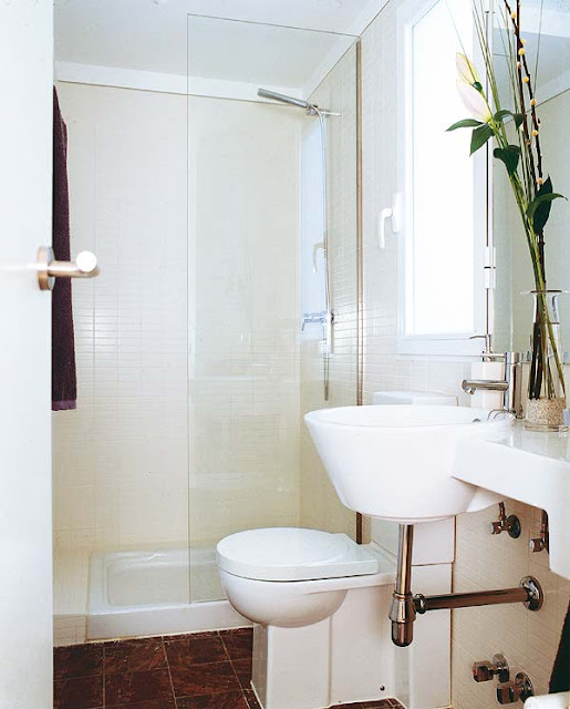 Decoracion De Baños Rectangulares Pequenos:Traduce la escasez de metros en puro diseño para equipar el baño de