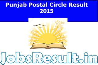 Punjab Postal Circle Result 2015