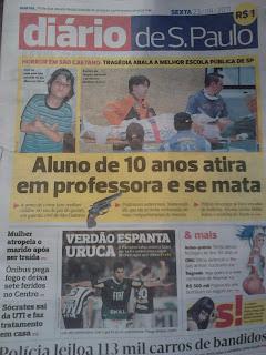 """IMPRENSA: Shownarlismo do """"Diário de S. Paulo"""", tudo para vender"""
