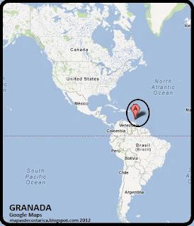 Mapa de GRANADA en América, Google Maps