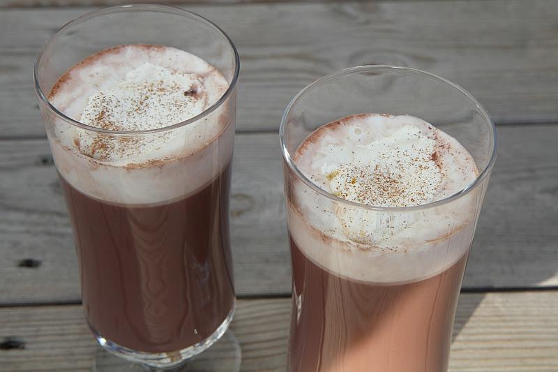 varm choklad med rom
