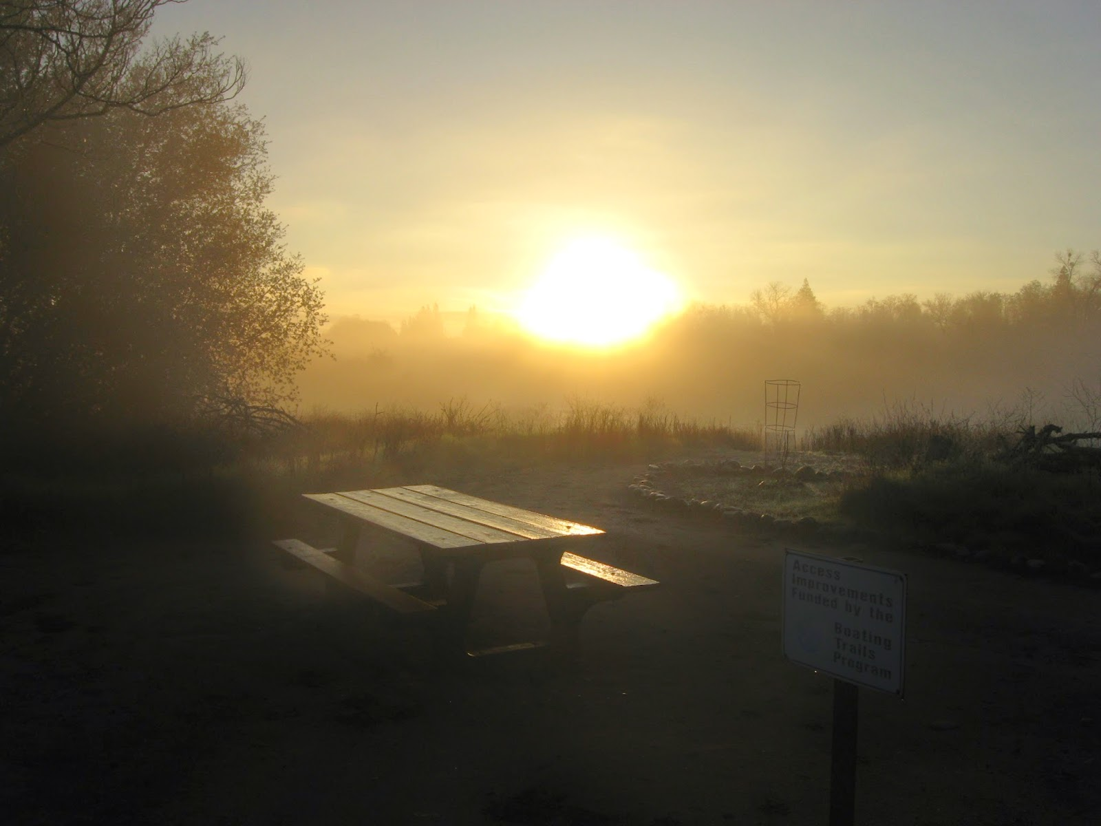Sunrise at the Bass Pond, American River
