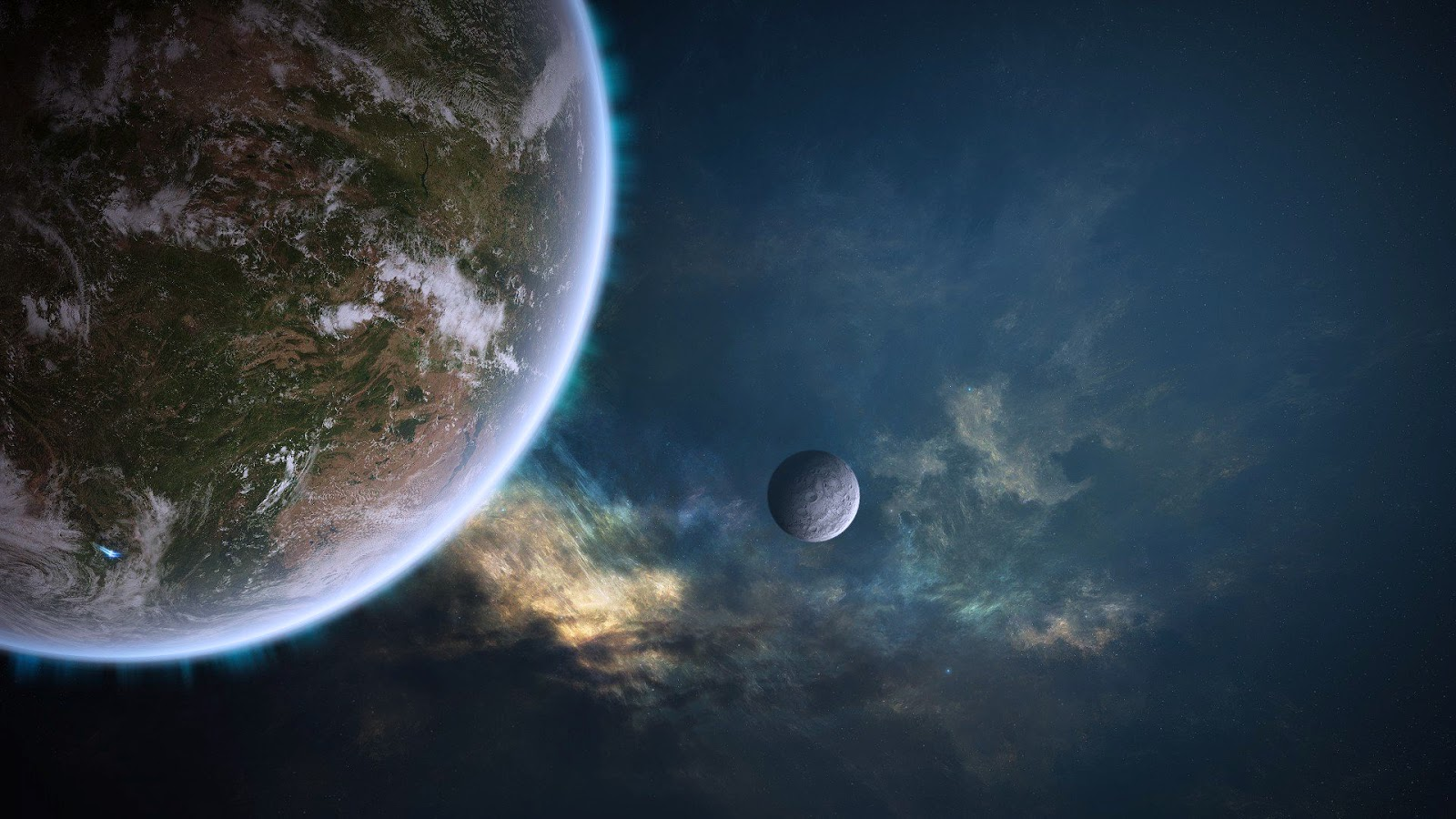 Planet in Space Wallpaper