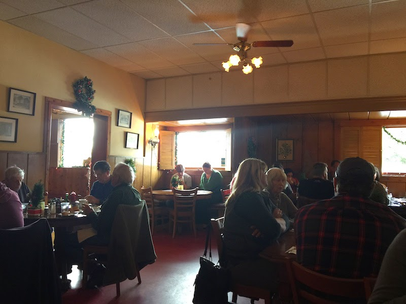 Dining room at Duarte's Tavern in Pescadero