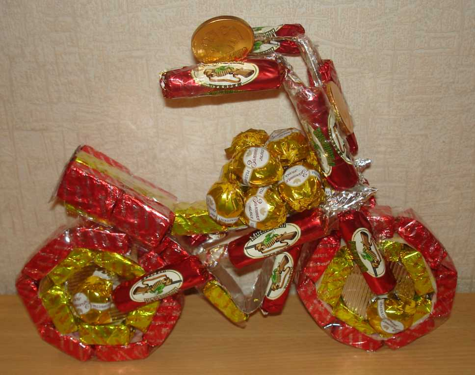 Какой подарок можно сделать из конфетах 184