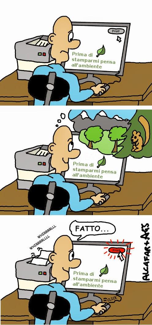 ambiente, ecologia, umorismo , vignetta