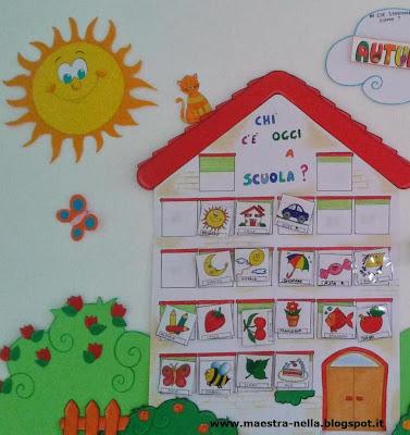 Maestra nella cartellone presenze e calendario for Maestra gemma accoglienza scuola infanzia