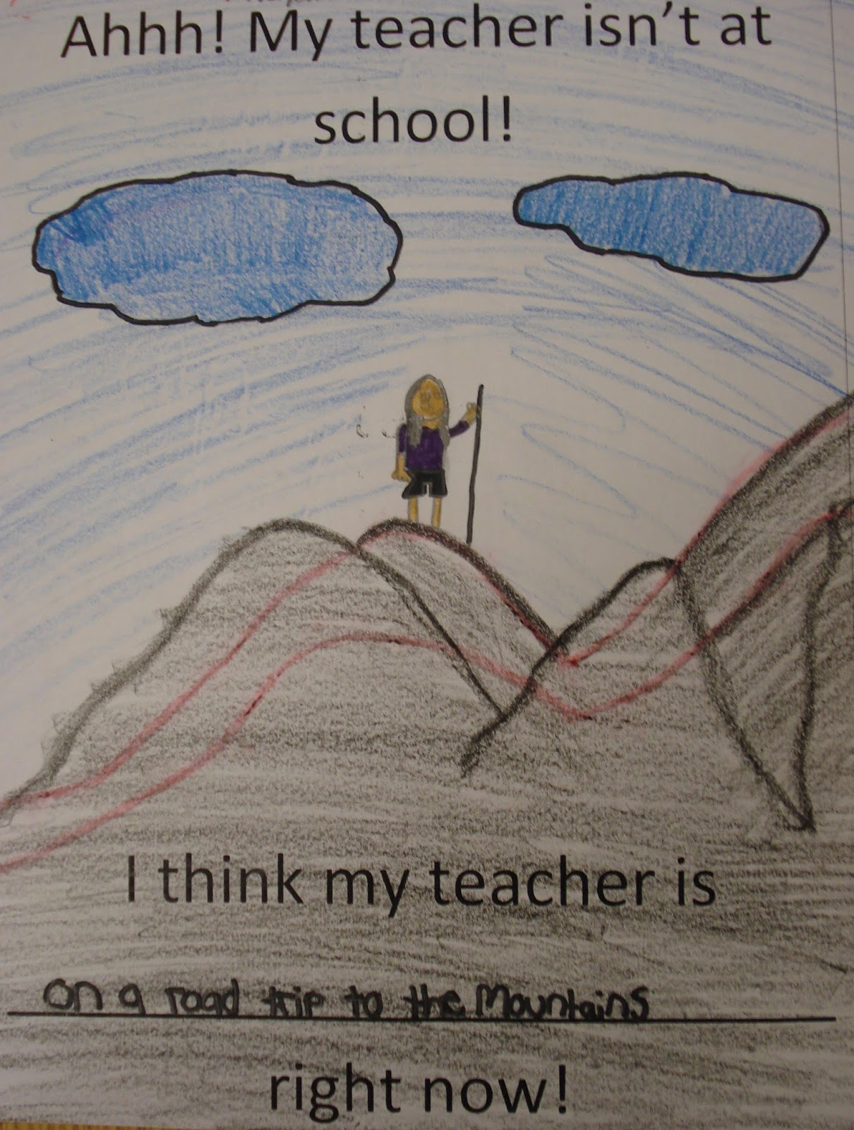 The Teacher Isnt Following My Childs >> Ms Shook Land Sub Drawings My Teacher Isn T At School