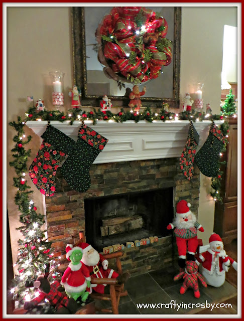Christmas Crafts, Peppermint, candle, diy, hurricane candle, mantel