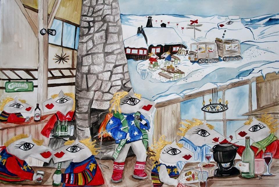 På Snögubben kan du titta på och köpa mina tavlor.