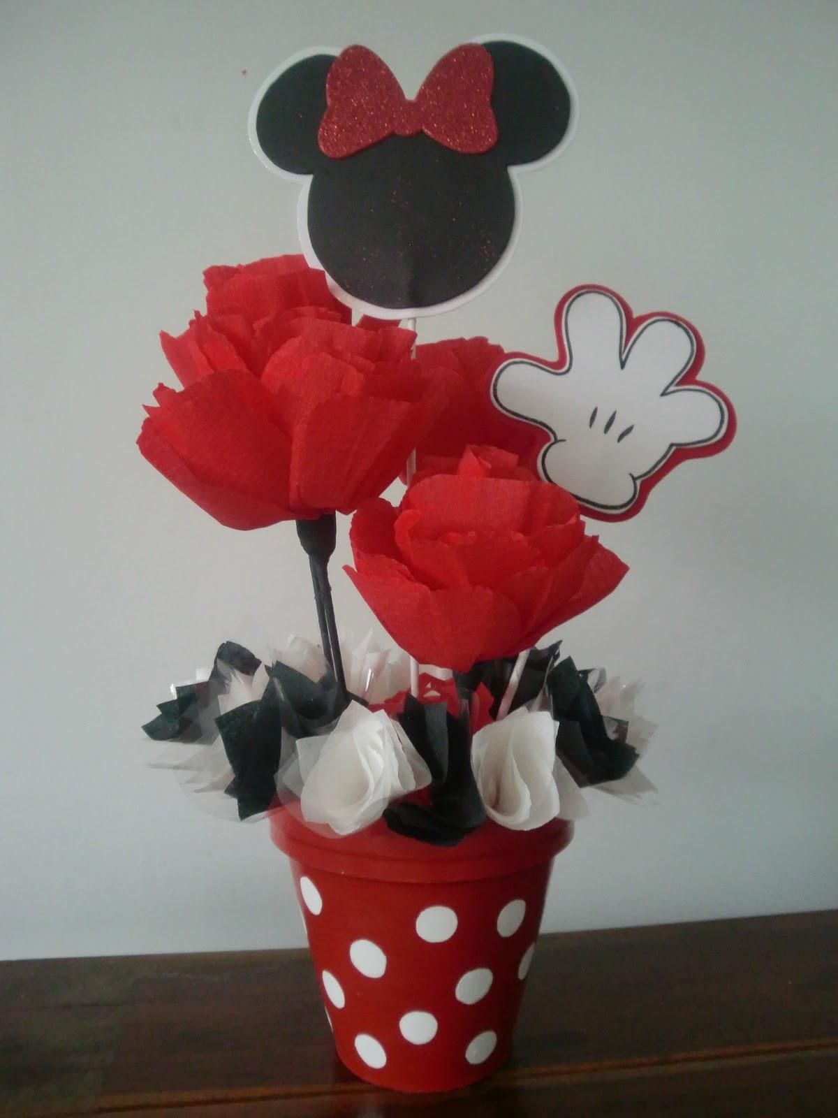 Handmade felt decorations cumplea os de minnie for Decoracion cumpleanos minnie