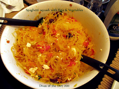 Divasofthedirt,spaghetti squash with feta