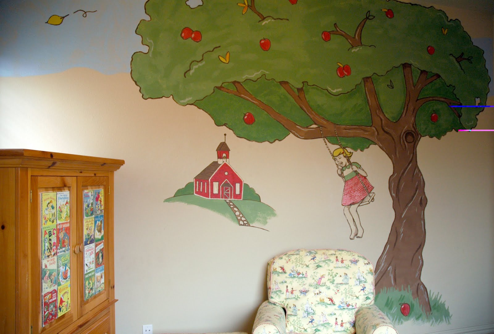 Why am i always so tired nursery tree murals for Apple tree mural
