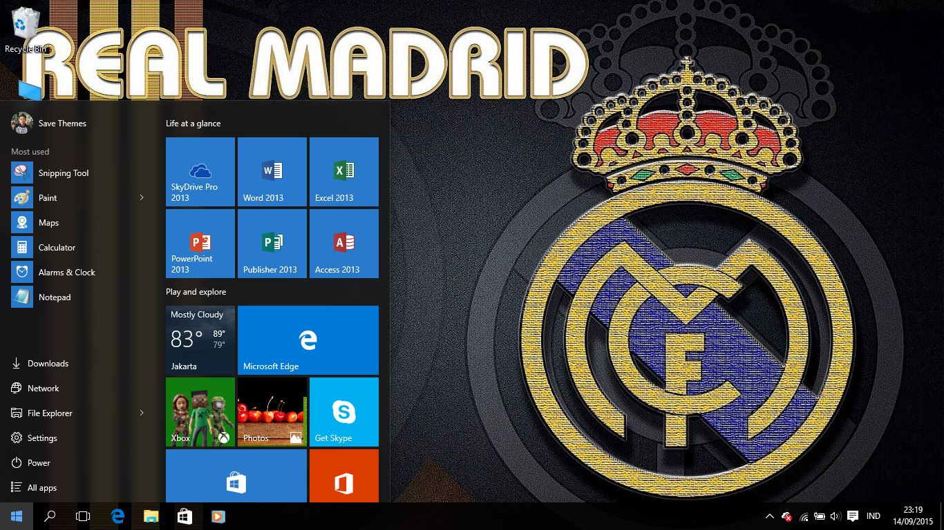 real madrid fc logo theme for windows 7 8 and 10 save themes