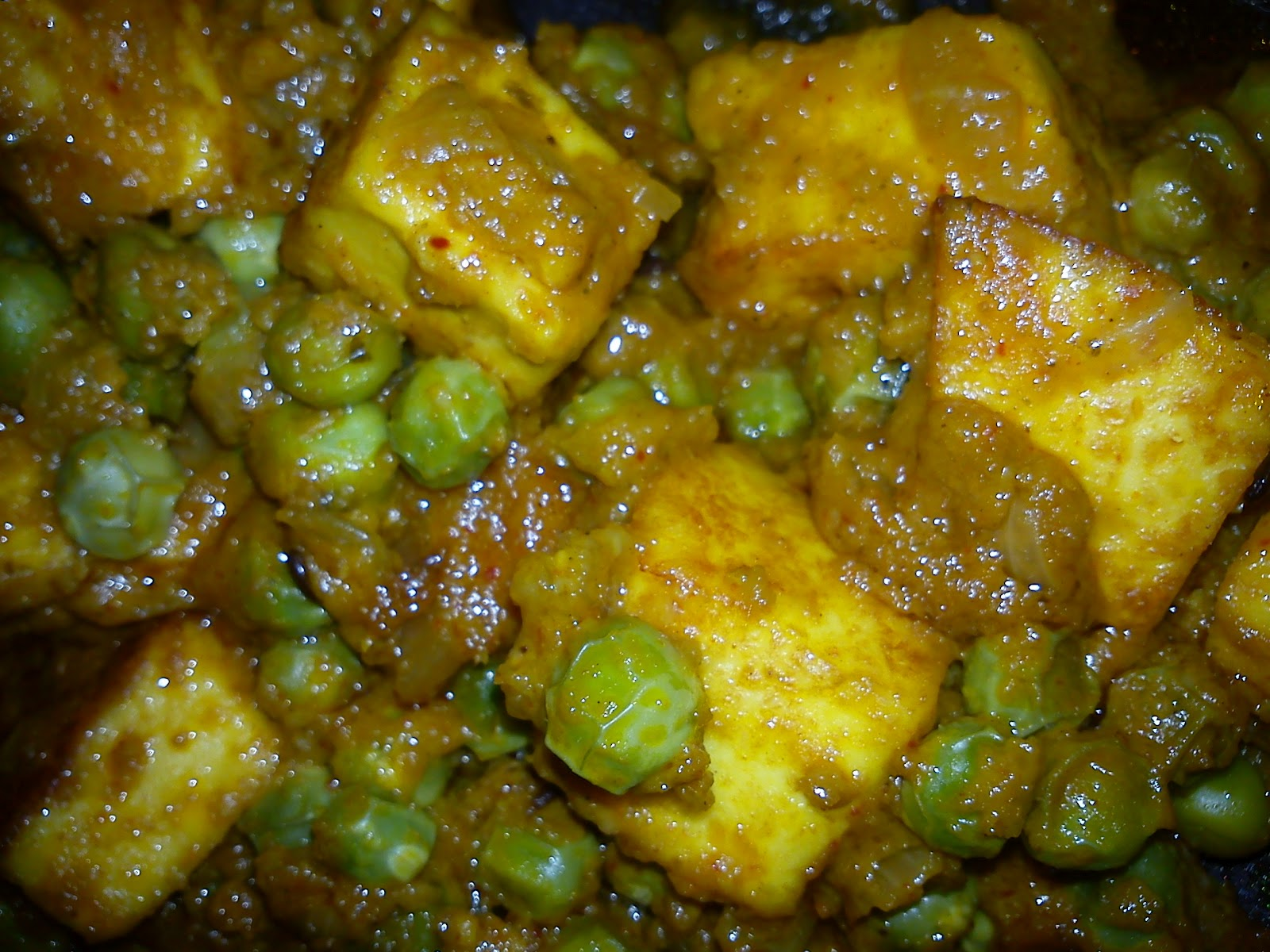 ... Matar Paneer/Mutter Paneer made with Parampara Ready to Cook Spice Mix