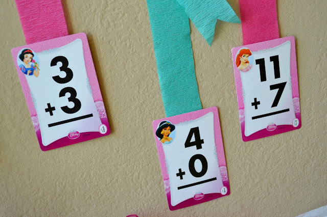 Mommy Testers Disney Princess math decorations for birthday party #DreamParty