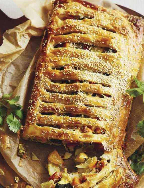 Easy Food Recipes and Cooking: Roast Vegetable and Hummus Jalousie