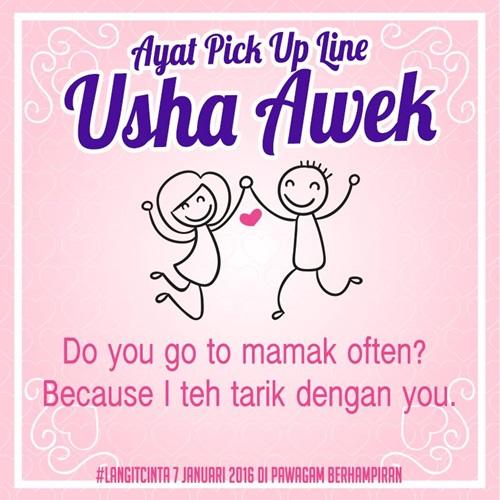 Ayat Pickup Line 'Usha Awek'