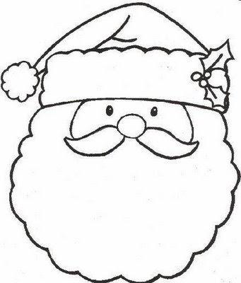 Imagens do Papai Noel para colorir pintar imprimir