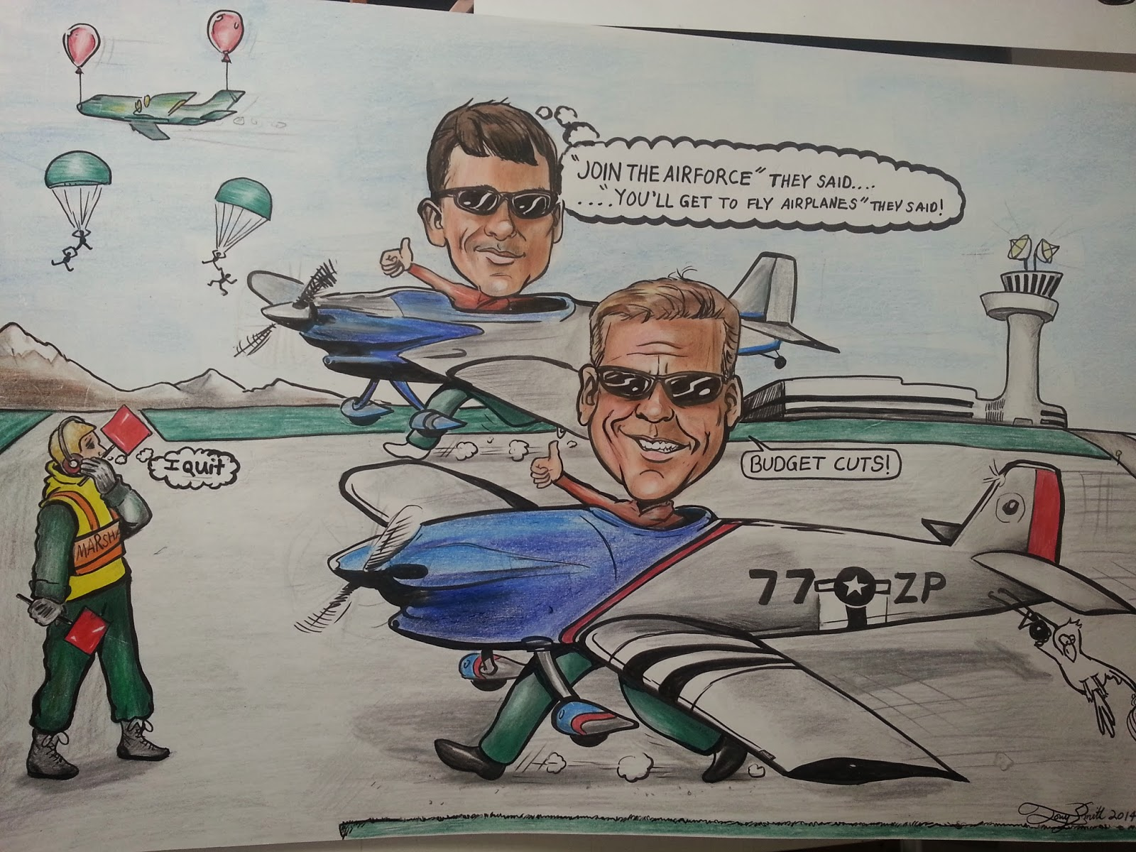 Tony Smith caricature Illustration