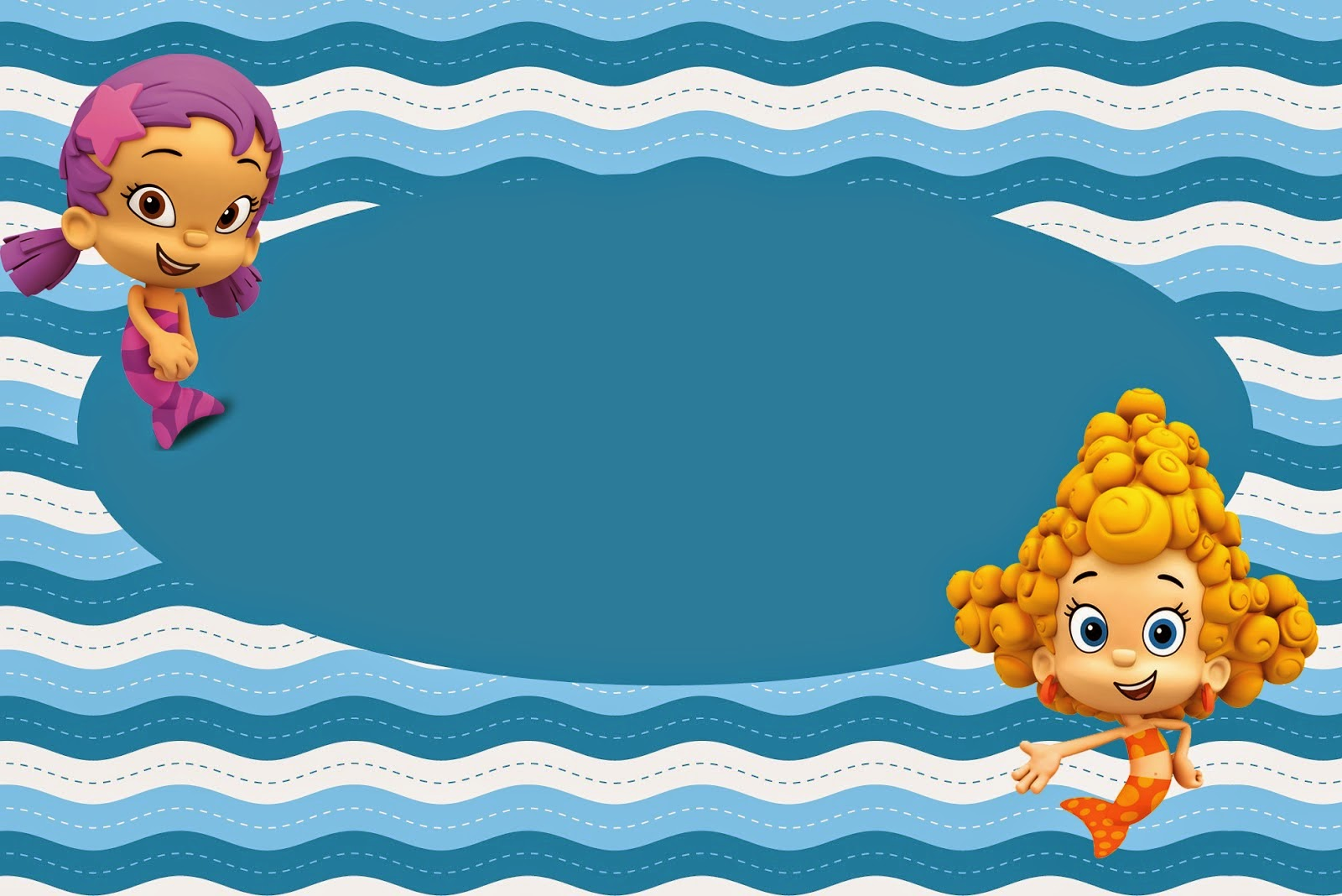 Bubble Guppies Birthday Invitations Template is awesome invitations design