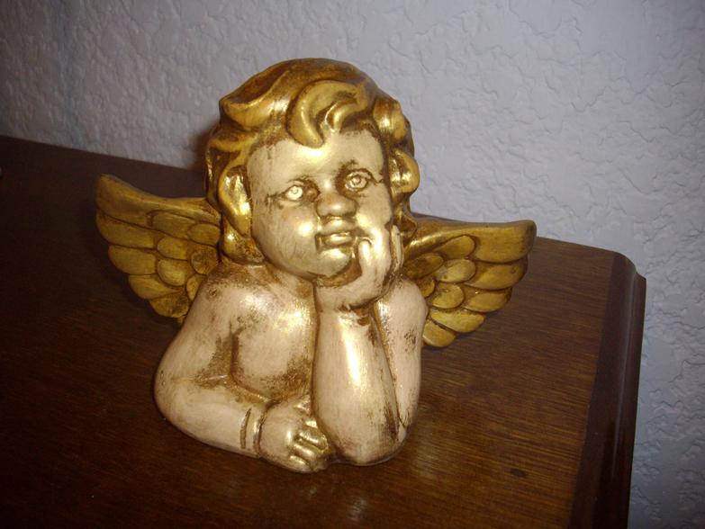 Arte vitro regalos piezas en yeso - Angelitos de yeso ...