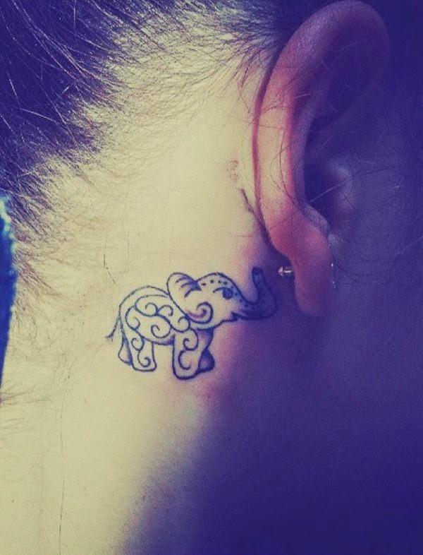 ♥ ♫ ♥ Behind The Ear Elephant Tattoos ♥ ♫ ♥