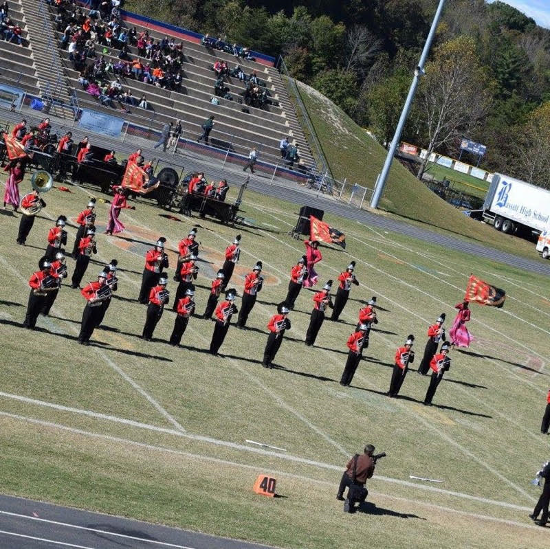 Trojan Vanguard Band in competition