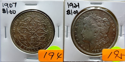 Straits Settlements $1 1907H (rim nick on obv. n cleaned)