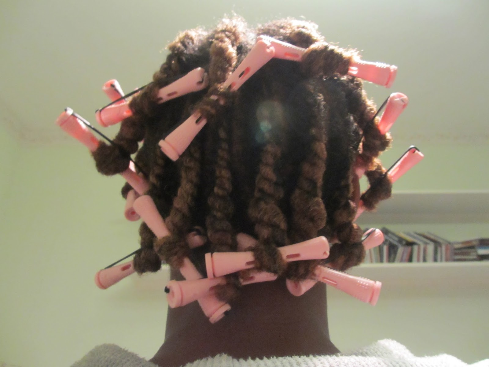 Once the flat twists were done, I added perm rods to the ends to give