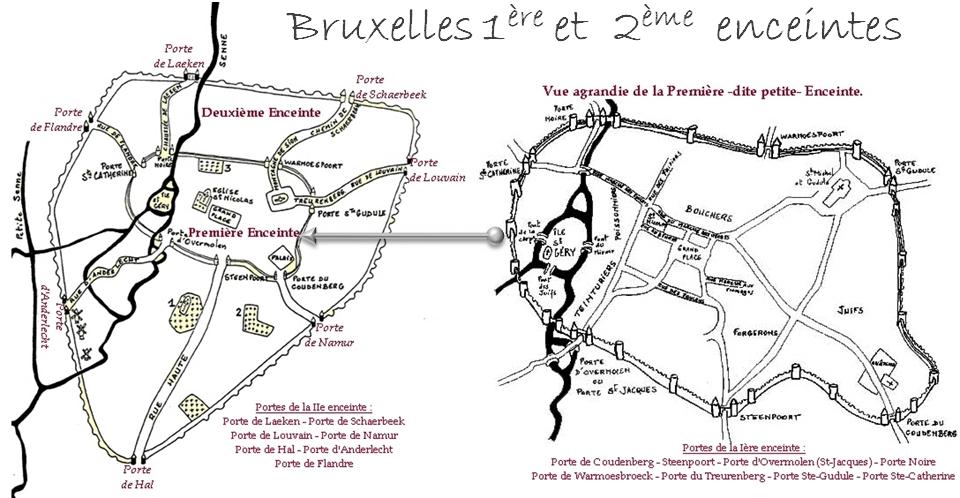 BRUXELLES-PENTAGONE - Roel Jacobs - CFC éditions - 1ère & 2ème enceintes - Bruxelles-Bruxellons
