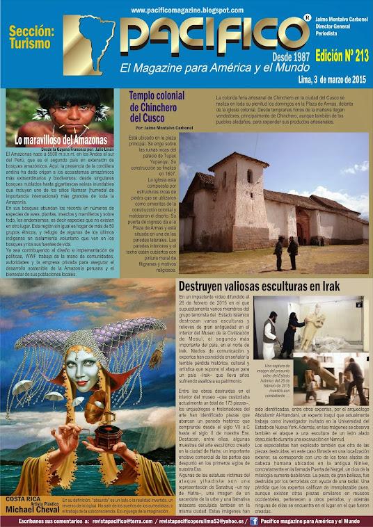 Revista Pacífico Nº 213 Turismo